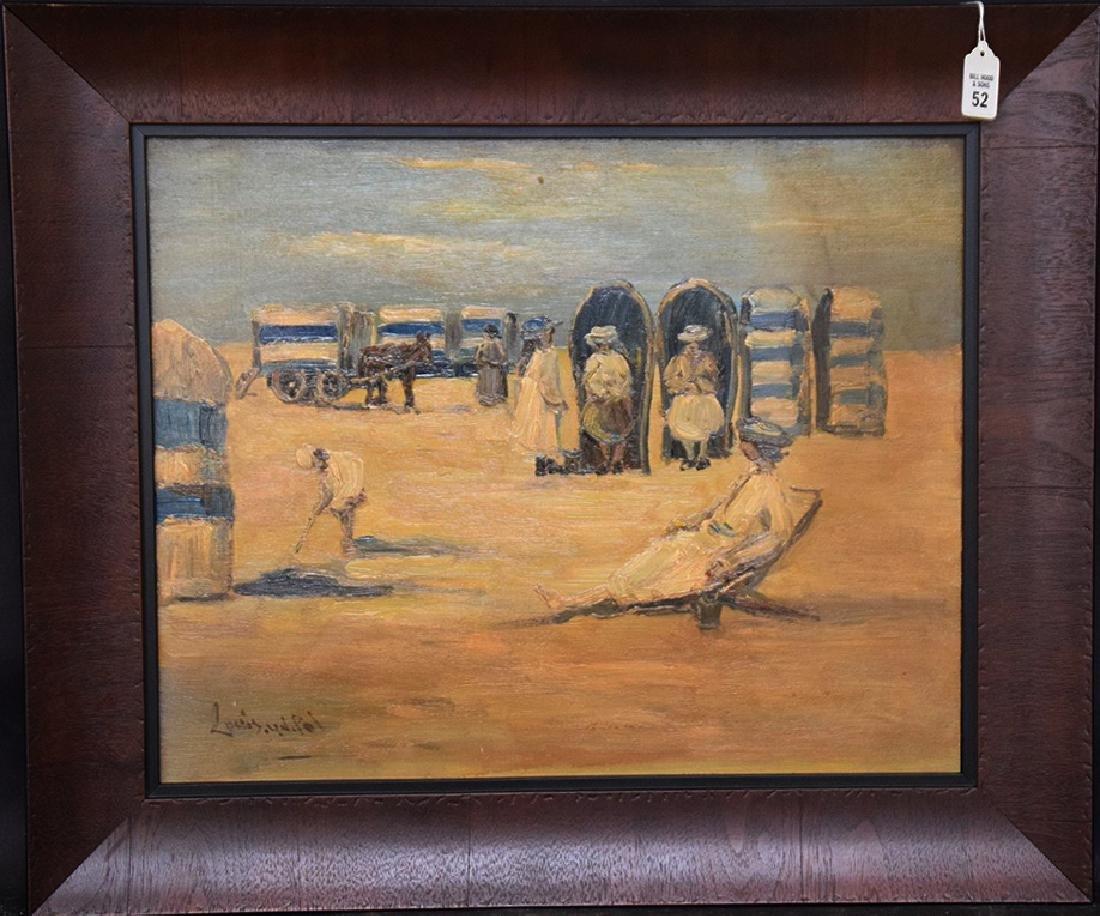 Louis van der Pol (Dutch, 1896-1982) on the beach,