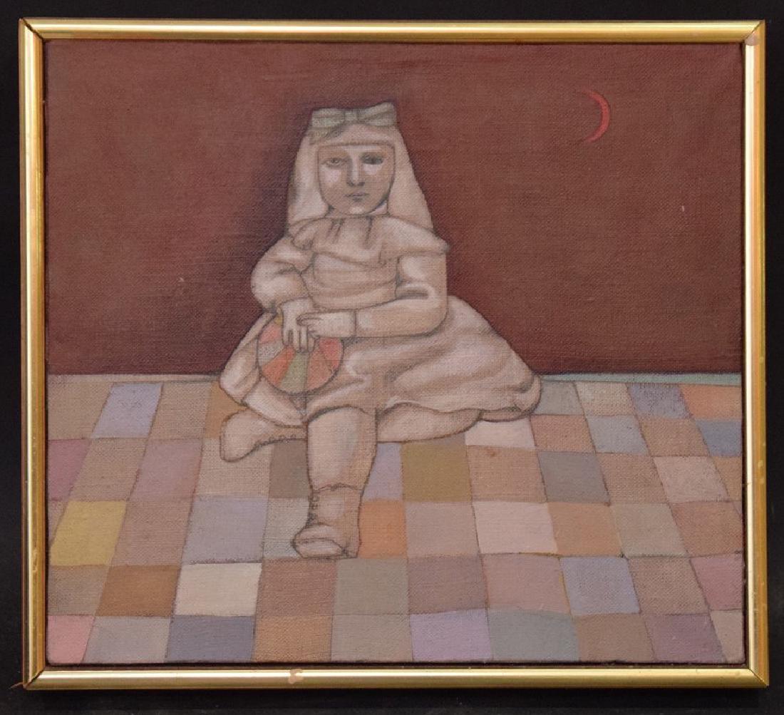 Mary Spain (American 1934-1983) oil on canvas, DUMB