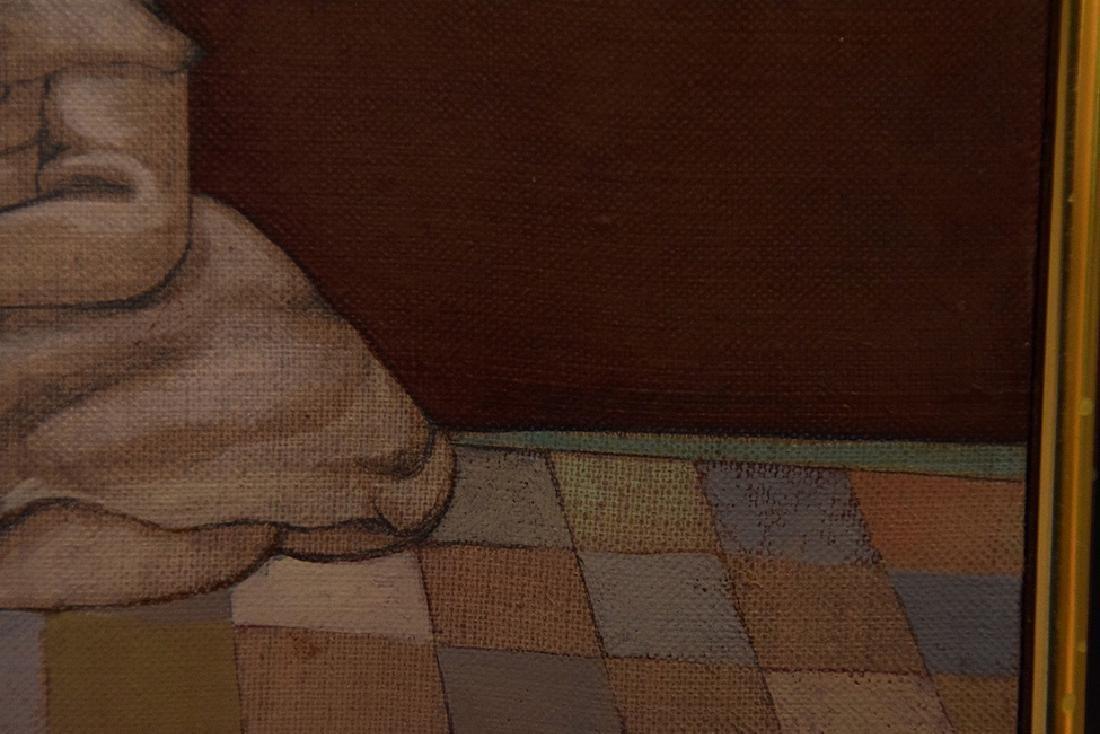 Mary Spain (American 1934-1983) oil on canvas, DUMB - 2
