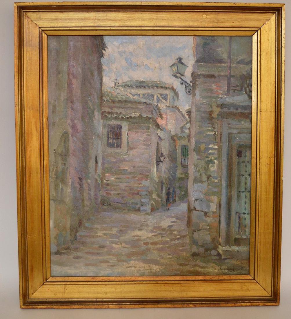"""Joaquin Capulino Jauregui (Spain 1879-1969) """"Calle del"""