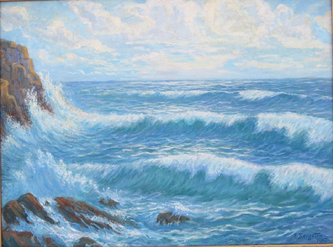 EINAR BERGSTEN, (Sweden, 1886-1970), Oil/Canvas, Rocky - 2