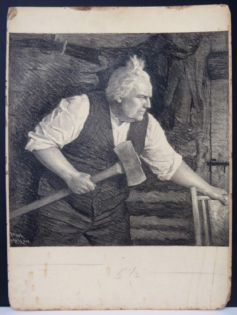 PAUL MEYLAN, (New York, 1882-1962), Charcoal and Chalk