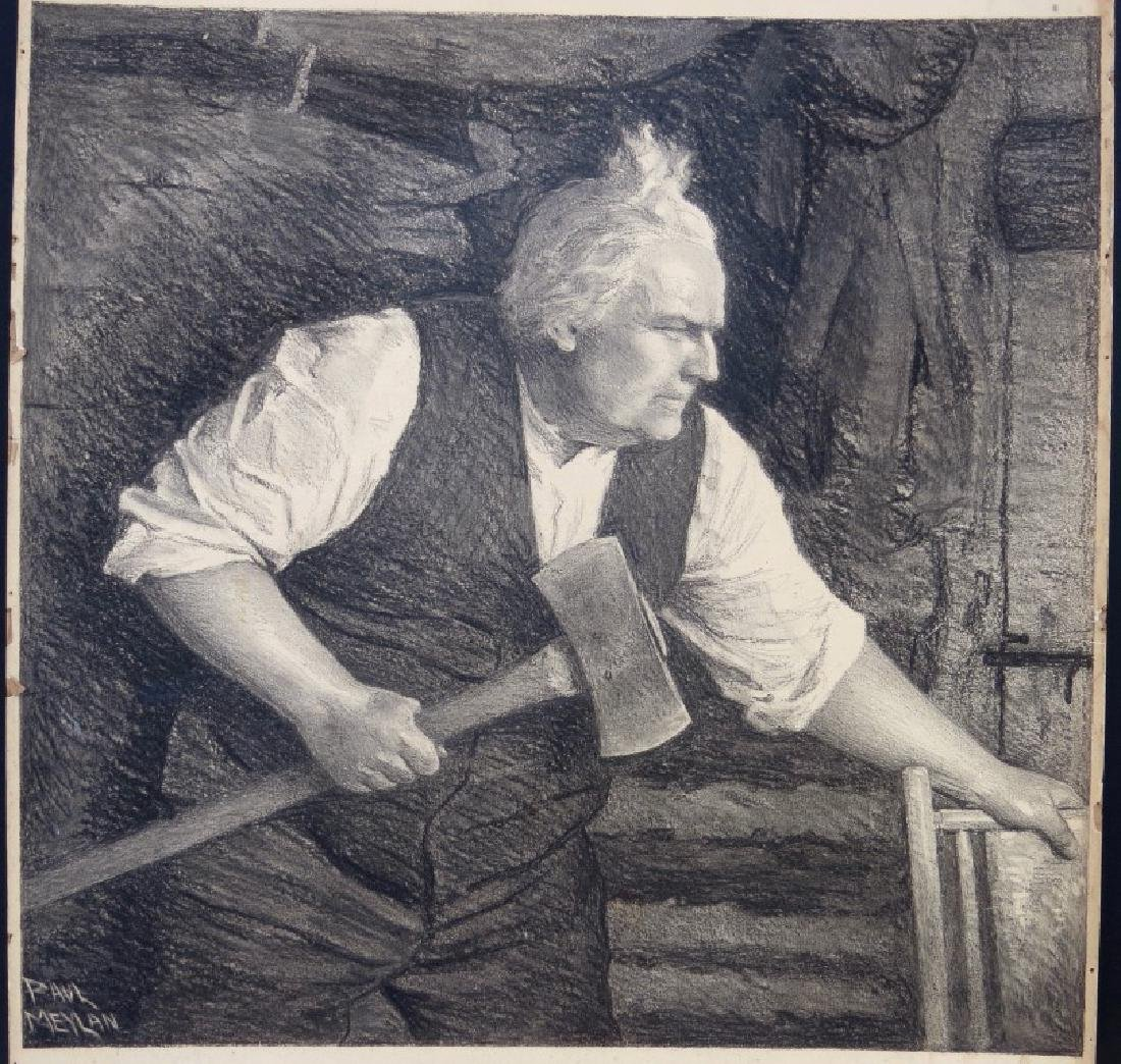 PAUL MEYLAN, (New York, 1882-1962), Charcoal and Chalk - 2