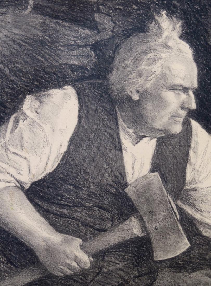 PAUL MEYLAN, (New York, 1882-1962), Charcoal and Chalk - 3