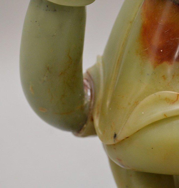 Large celedon jade and soapstone Quan Yin carving - 7