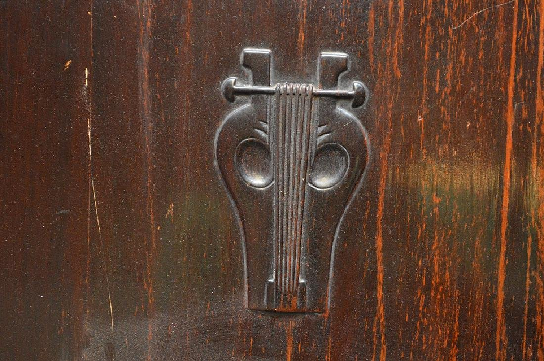"Carved wood music stand, Art Nouveau, 54"" x 24""w (some - 4"