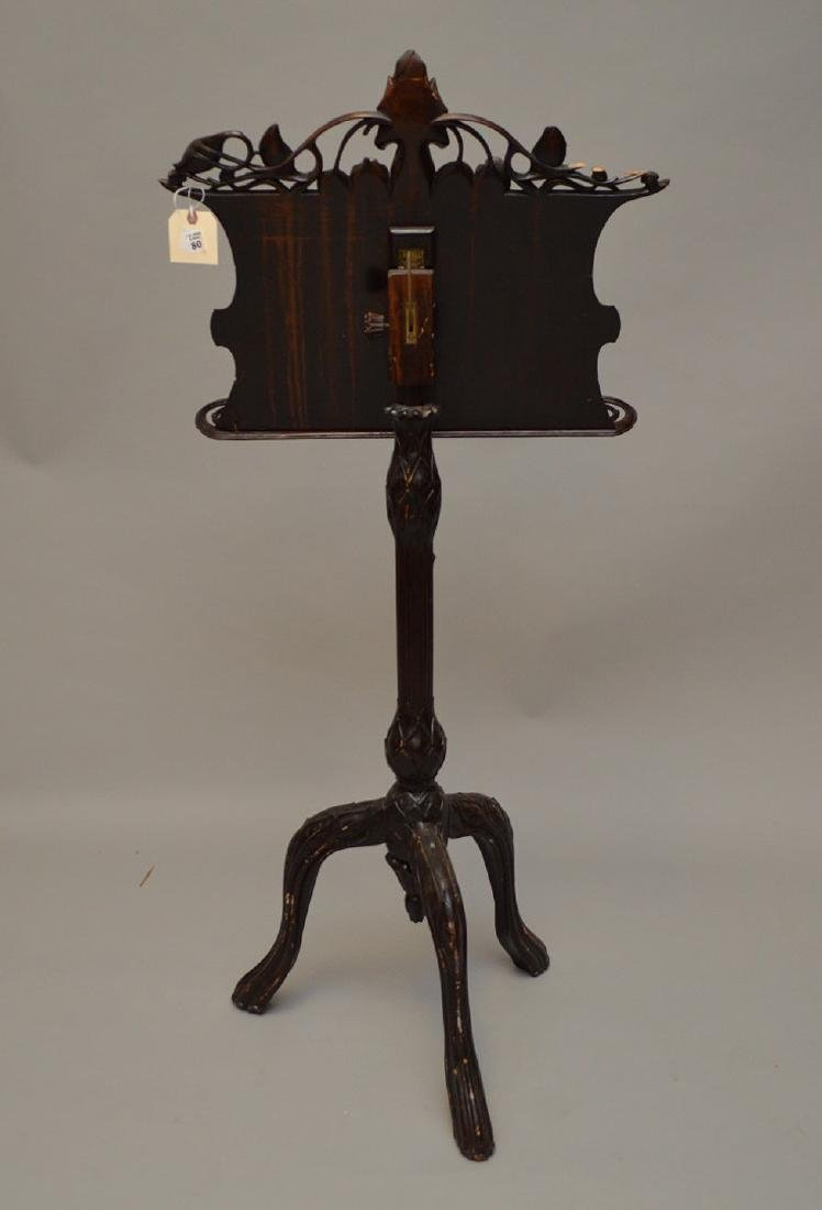 "Carved wood music stand, Art Nouveau, 54"" x 24""w (some - 7"