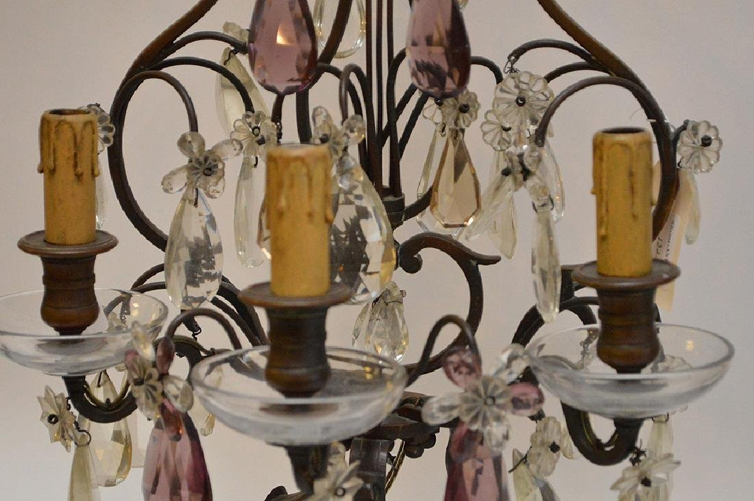 Pair of French Antique Bronze and Amethyst Crystal - 4