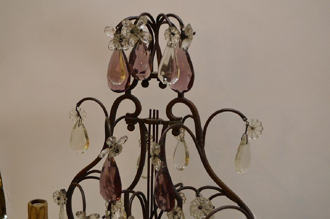 Pair of French Antique Bronze and Amethyst Crystal - 5