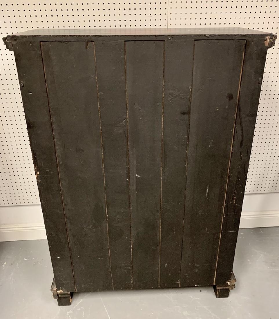 "Antique Nautical Painted Bookcase, England, 1900, 54""h - 7"