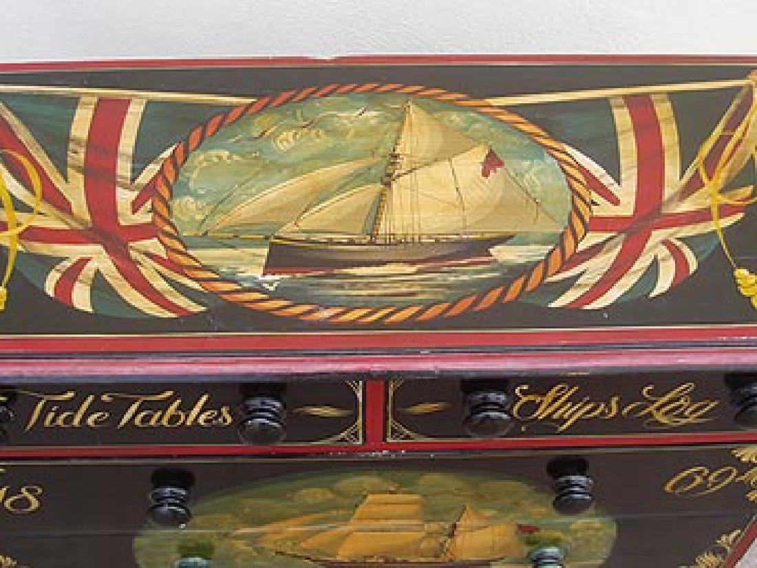 Antique Nautical Painted Chest with 5 Drawers, England, - 3