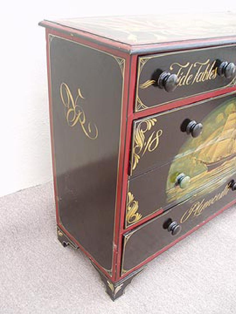 Antique Nautical Painted Chest with 5 Drawers, England, - 6