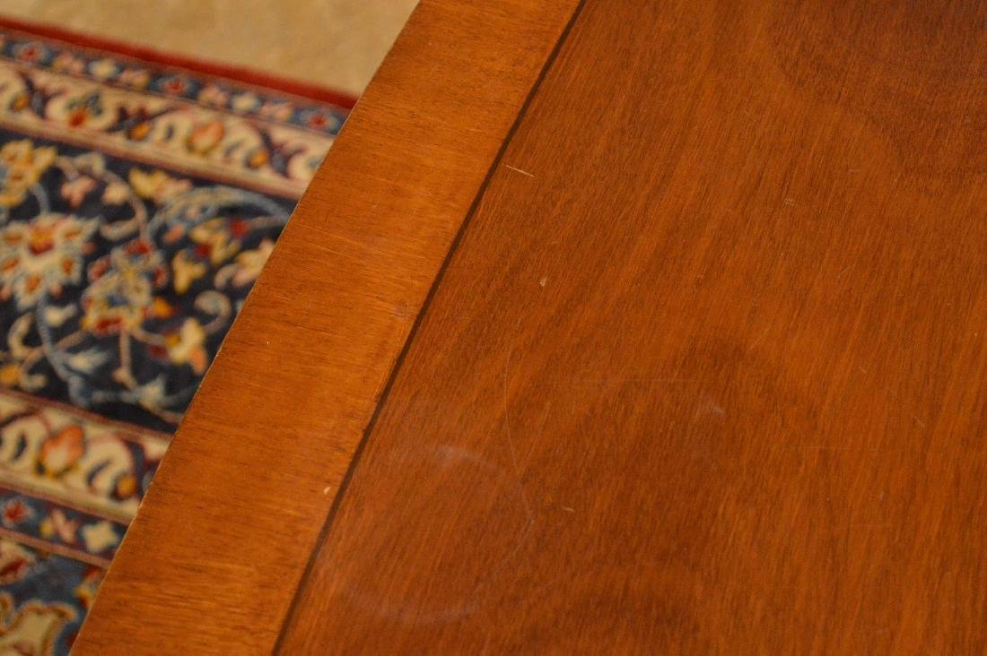 """Mahogany double pedestal banded edge dining table, 29""""h - 6"""
