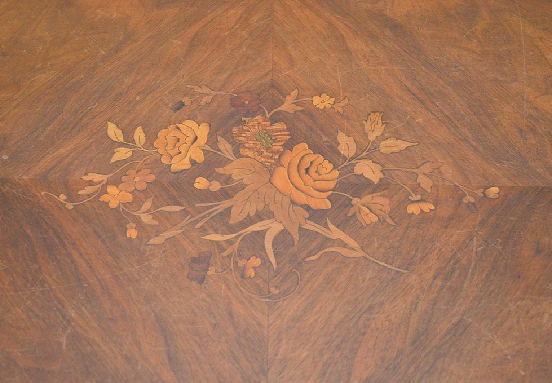 Antique French Napoleon III Period Inlaid Table, circa - 4