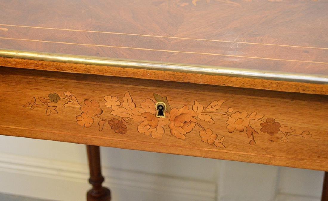 Antique French Napoleon III Period Inlaid Table, circa - 5