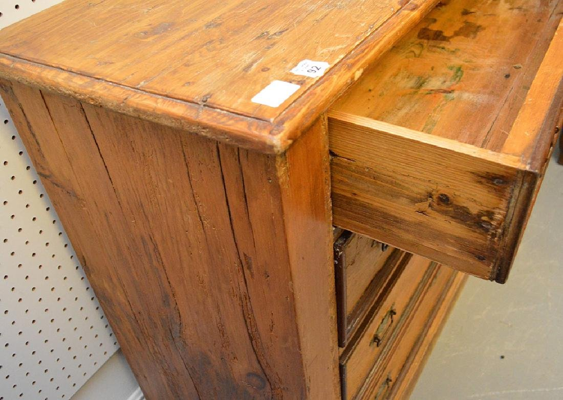 "Pine 4 drawer chest, 36 1/2""h x 44""w x 16 1/2""d - 5"