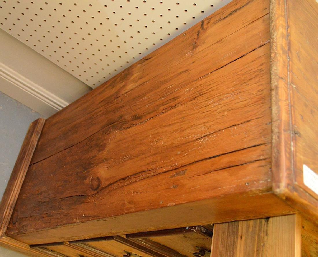 "Pine 4 drawer chest, 36 1/2""h x 44""w x 16 1/2""d - 6"