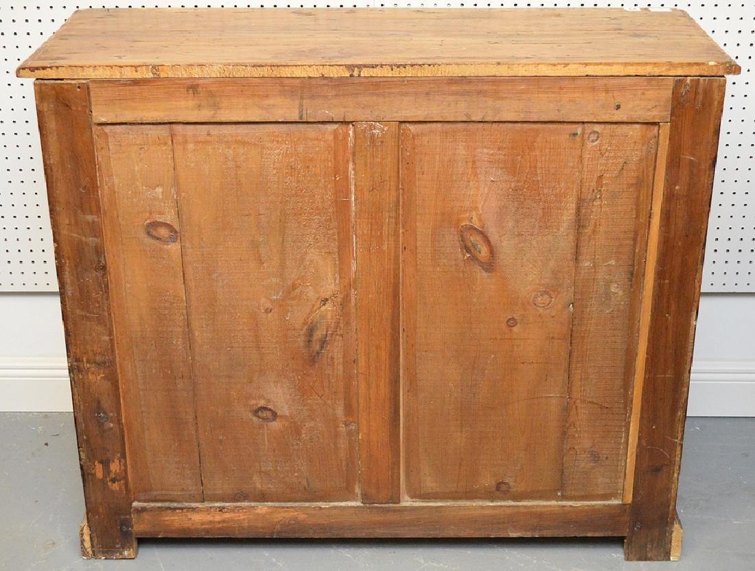 "Pine 4 drawer chest, 36 1/2""h x 44""w x 16 1/2""d - 7"