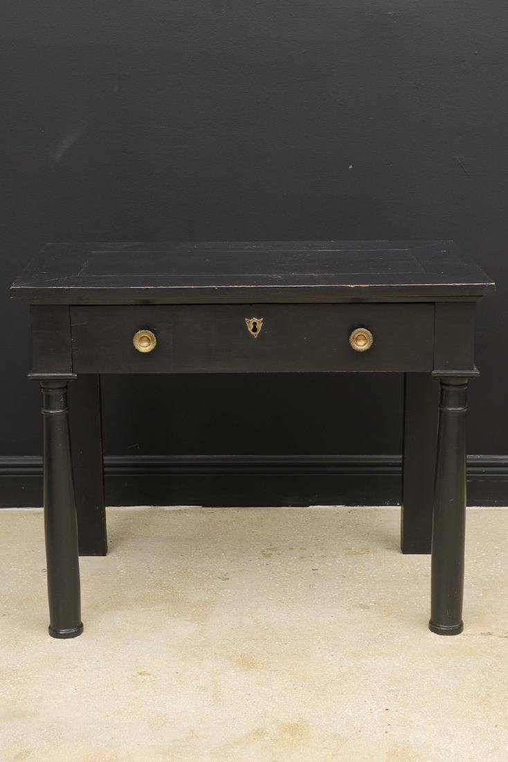 Antique French Empire Period Lacquered Console Table, - 2