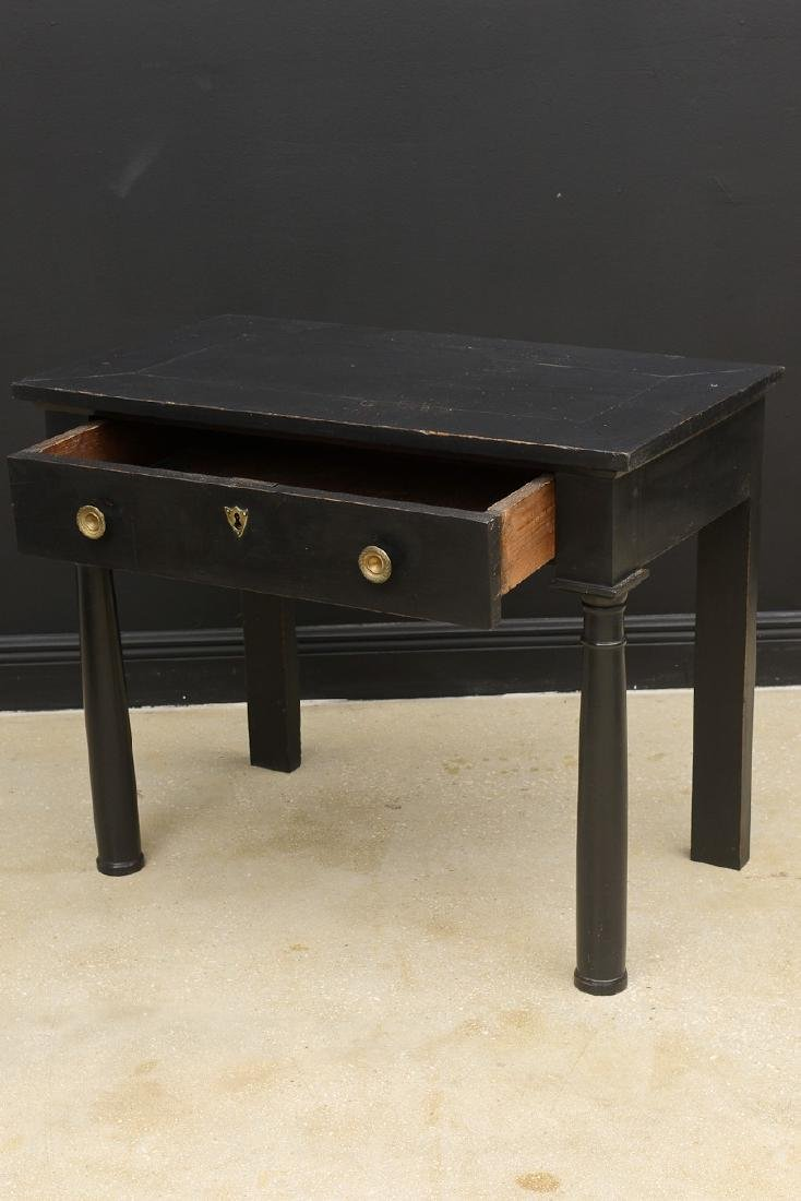 Antique French Empire Period Lacquered Console Table, - 4