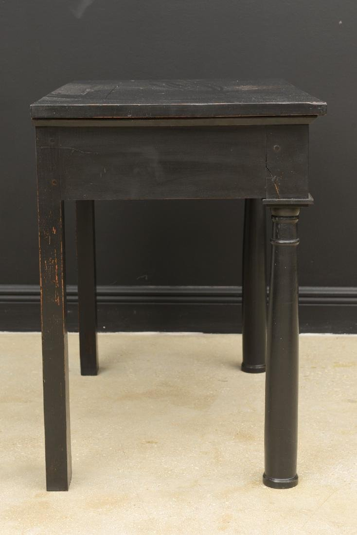 Antique French Empire Period Lacquered Console Table, - 6