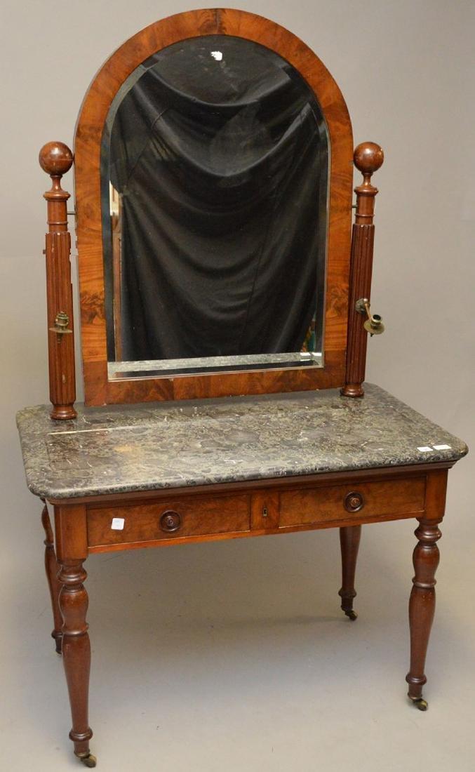 Louis Phillipe Vanity Table with Mirror, marble top, 29