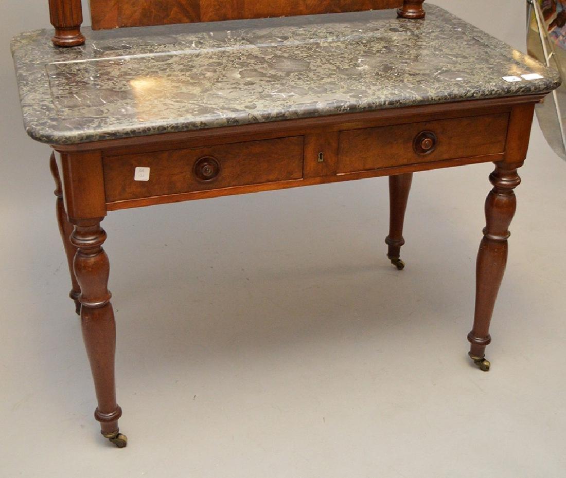 Louis Phillipe Vanity Table with Mirror, marble top, 29 - 2