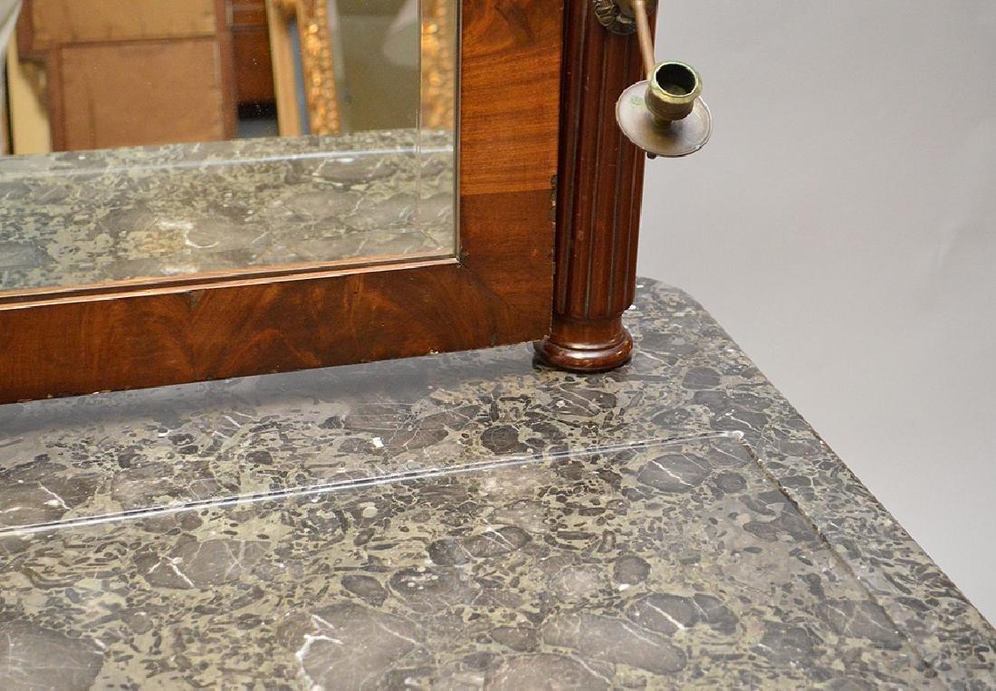 Louis Phillipe Vanity Table with Mirror, marble top, 29 - 4