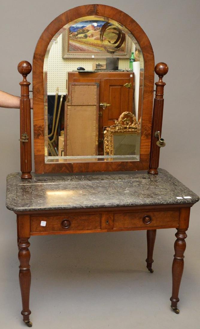 Louis Phillipe Vanity Table with Mirror, marble top, 29 - 5