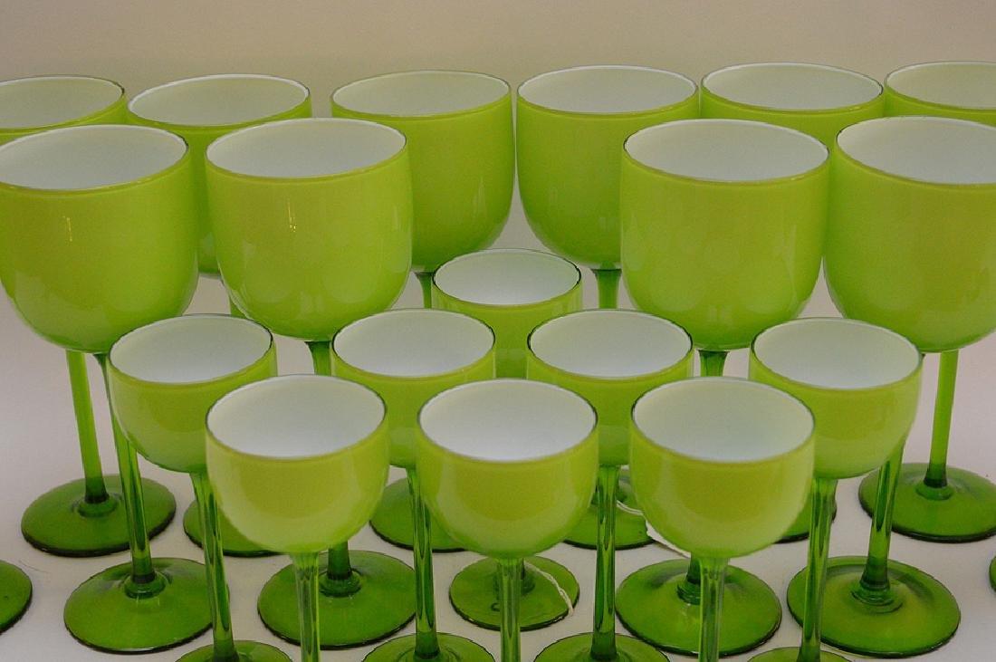 20 Carlo Moretti Murano Glass Wine Stems.  12 Glasses - 2