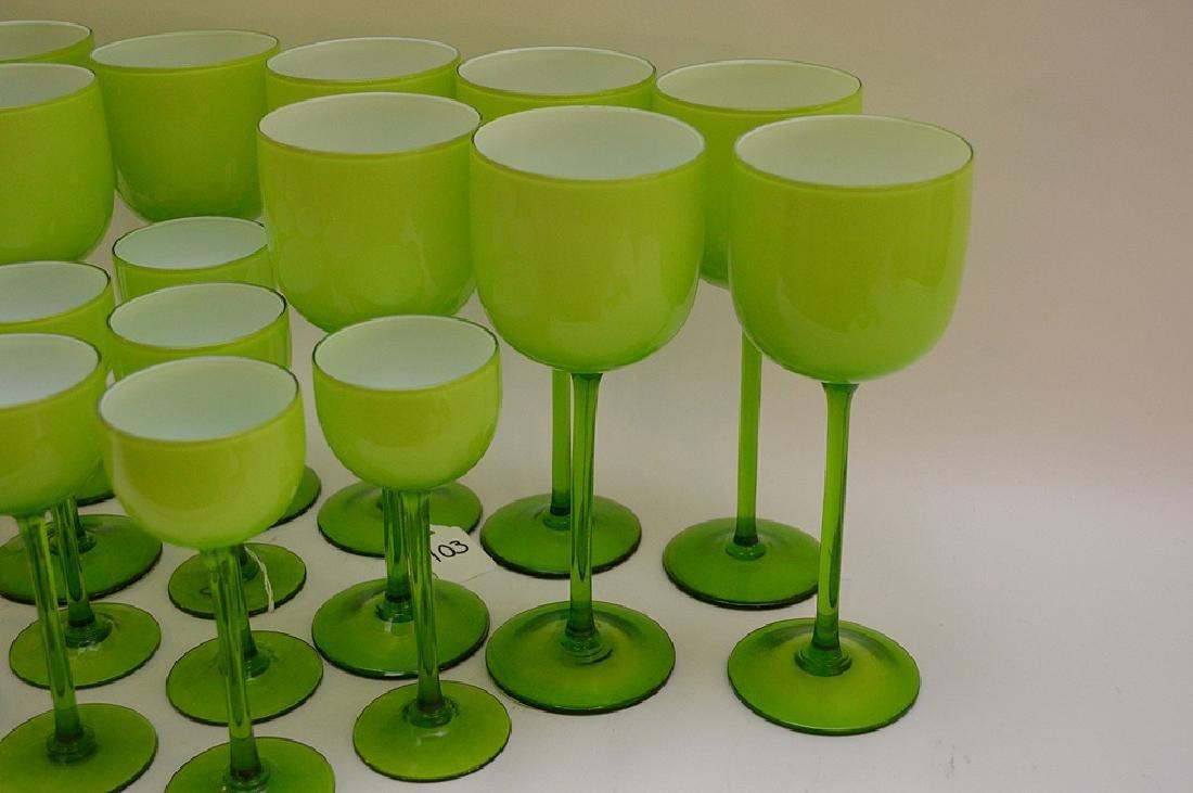 20 Carlo Moretti Murano Glass Wine Stems.  12 Glasses - 3