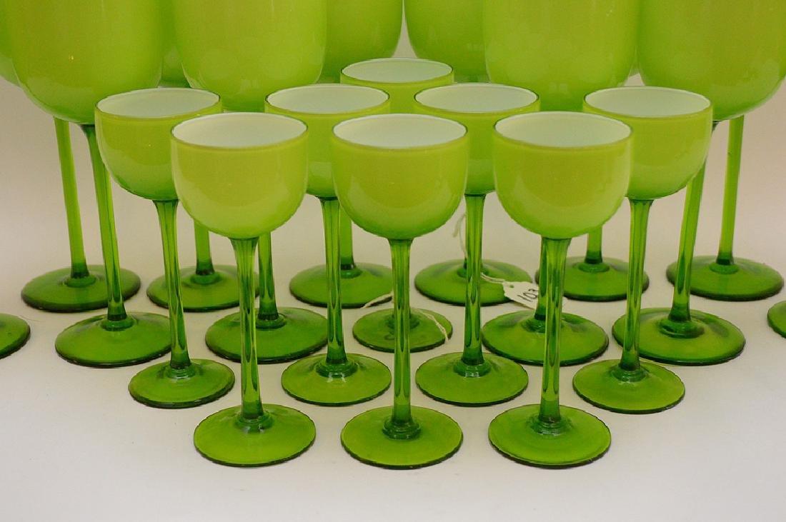 20 Carlo Moretti Murano Glass Wine Stems.  12 Glasses - 4