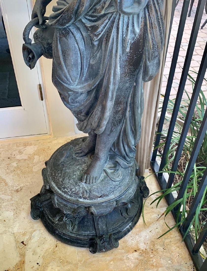 Large Bronze Classical Maiden with jug.  Condition: - 2