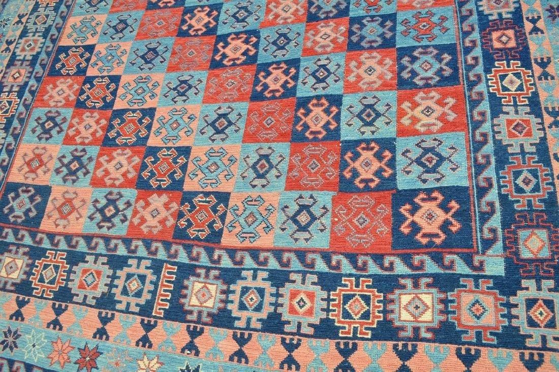 Flatweave Rug, reds & blues - 2