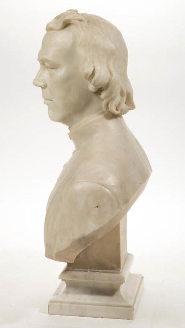 ITALIAN CARVED MARBLE BUST OF REVEREND FRANCIS BURLANDO - 2