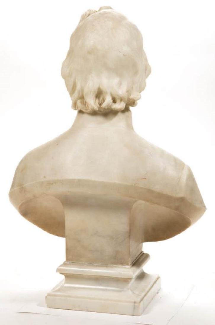 ITALIAN CARVED MARBLE BUST OF REVEREND FRANCIS BURLANDO - 3