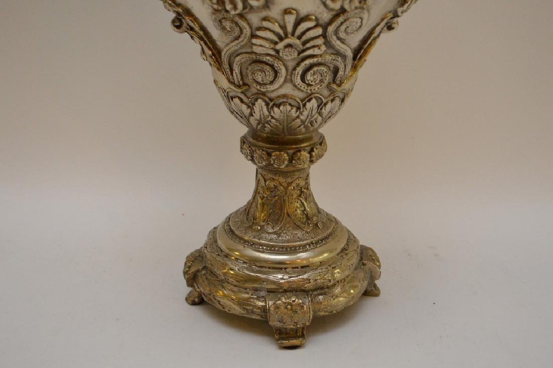"Continental silver bronze urn, 21"" (no noticeable - 4"