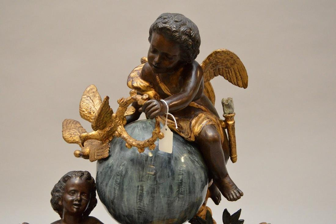 Large gilded and patinated bronze figural group - 2