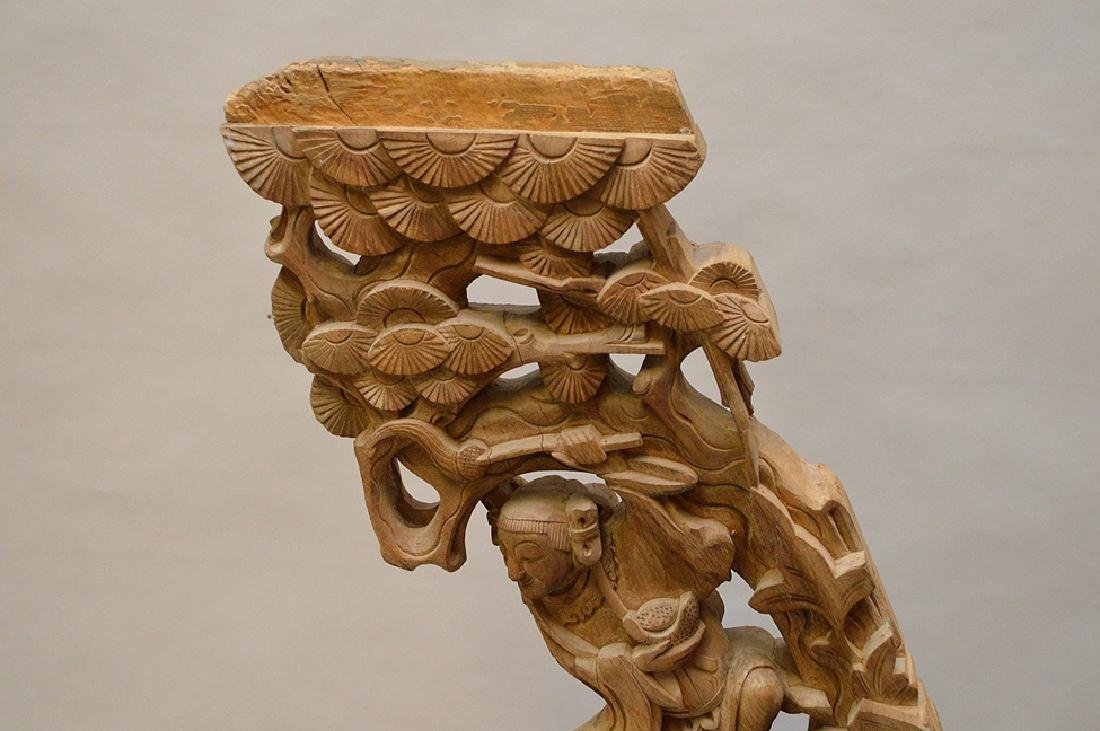 Antique Asian carved architectural piece, 39 inches - 3