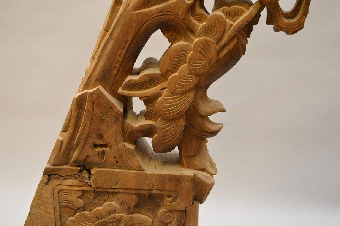 Antique Asian carved architectural piece, 39 inches - 6