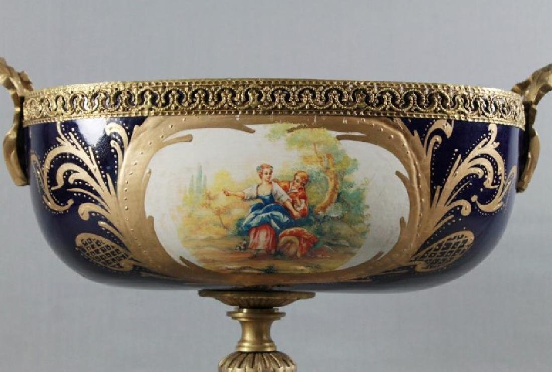 """SEVRES Style Center Compote. Size H: 14"""" W: 16"""" - 6"""