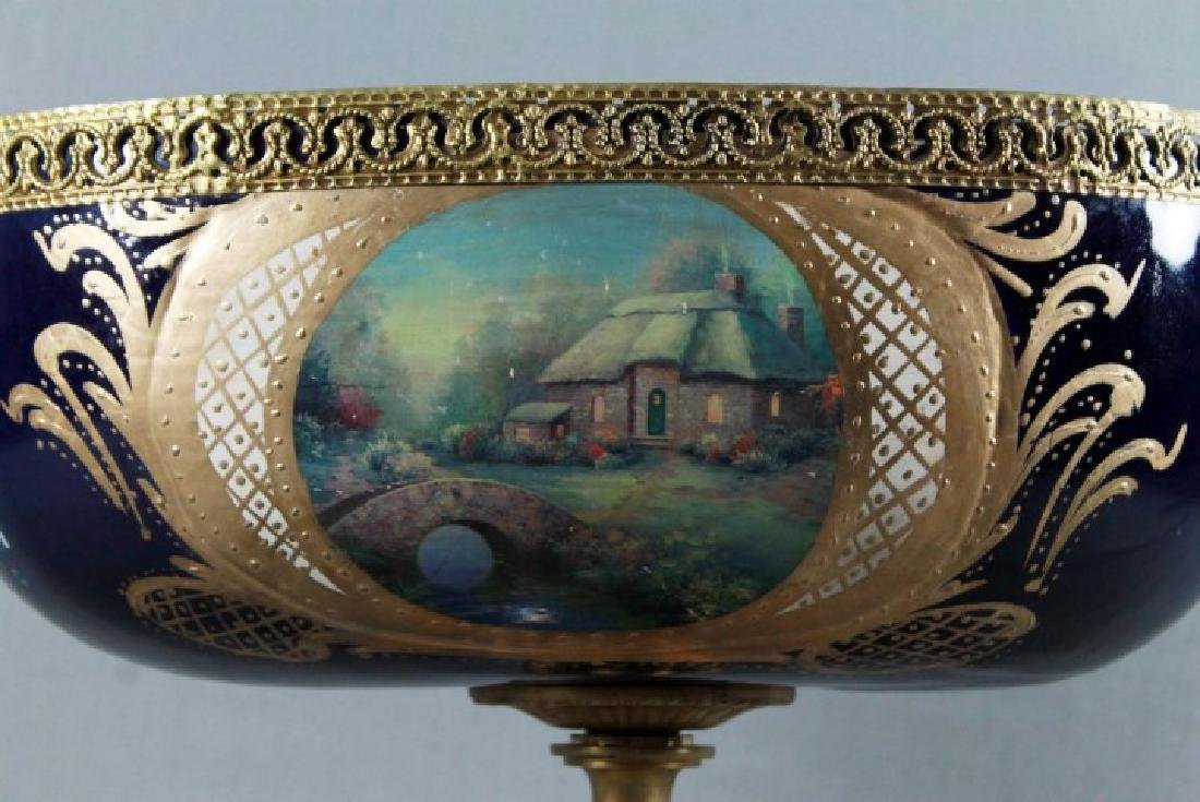 """SEVRES Style Center Compote. Size H: 14"""" W: 16"""" - 8"""