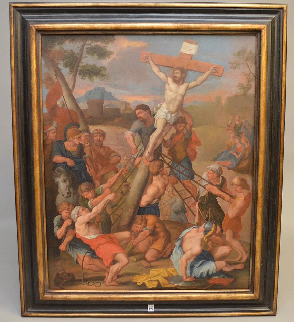 17th century School of Rubens, oil on canvas, RAISING