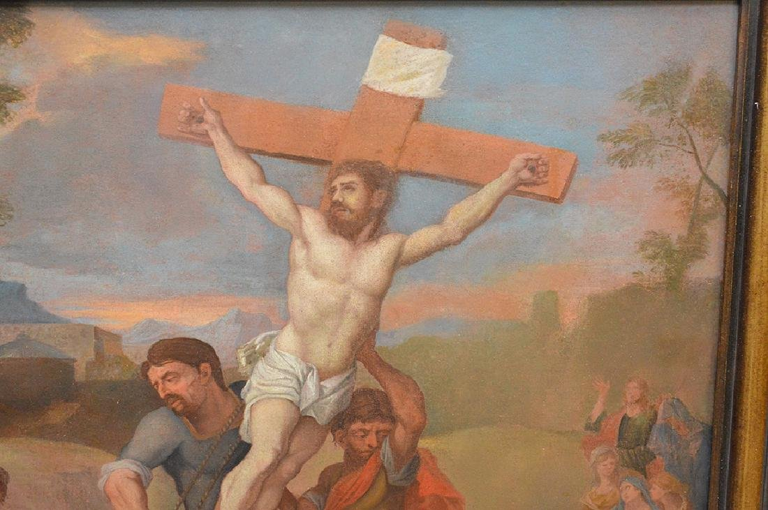 17th century School of Rubens, oil on canvas, RAISING - 2