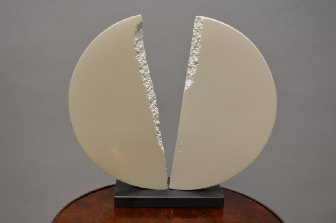 Metal Sculpture by James C. Myford, painted white, - 3