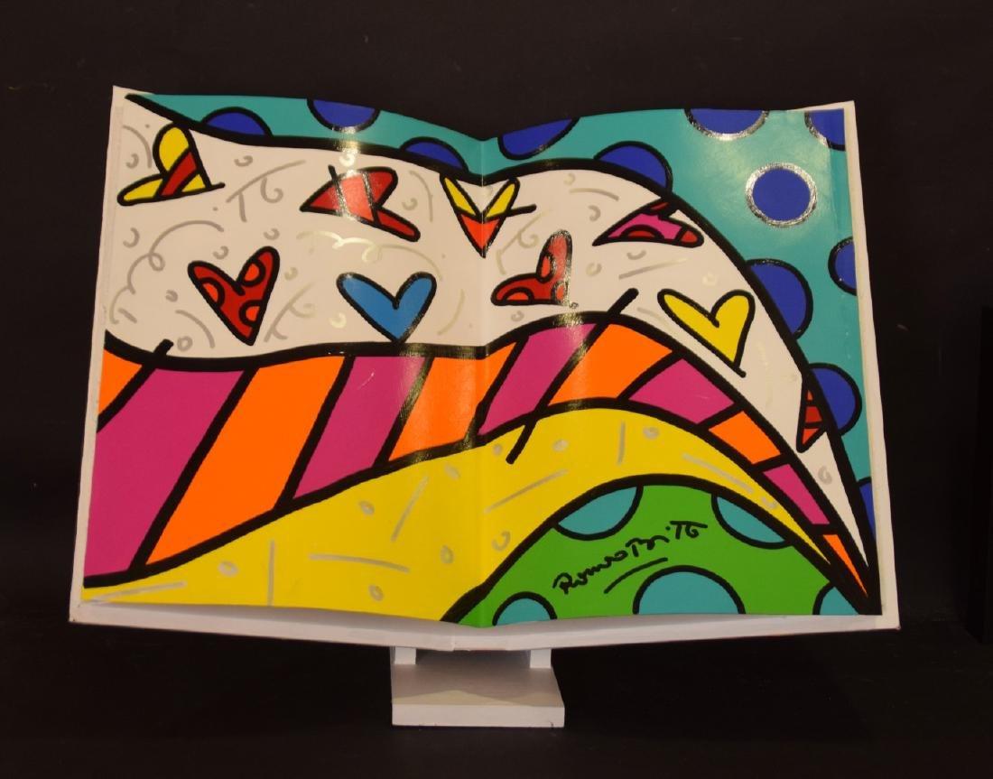 Romero Britto (Brazilian, b. 1963) acrylic painted OPEN