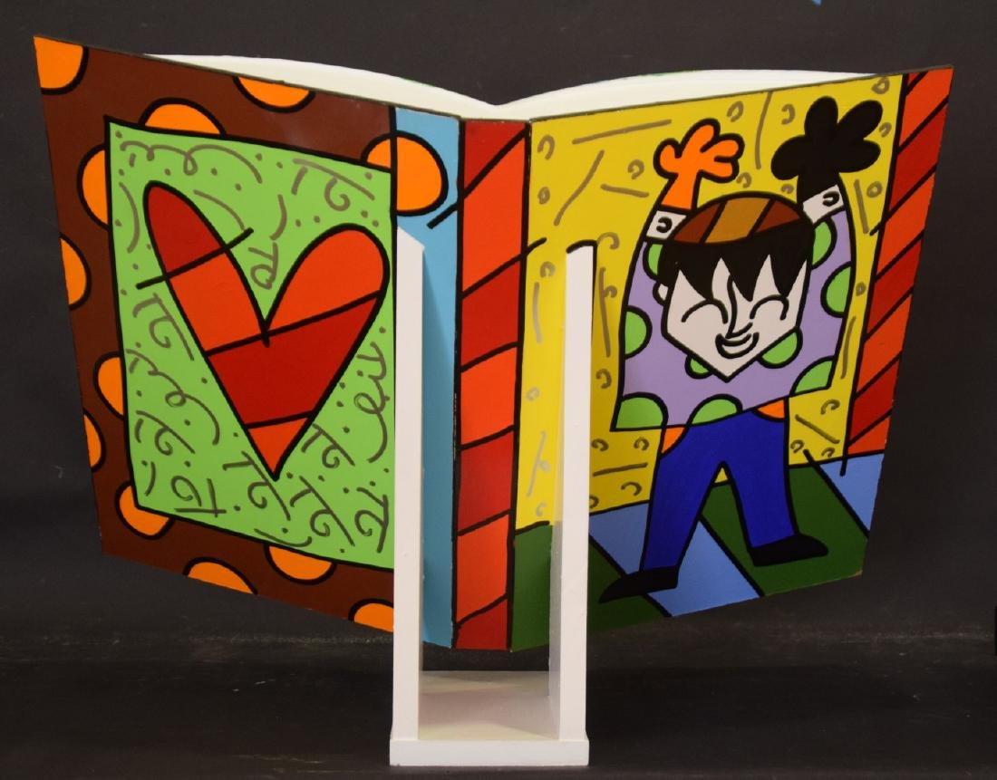 Romero Britto (Brazilian, b. 1963) acrylic painted OPEN - 2