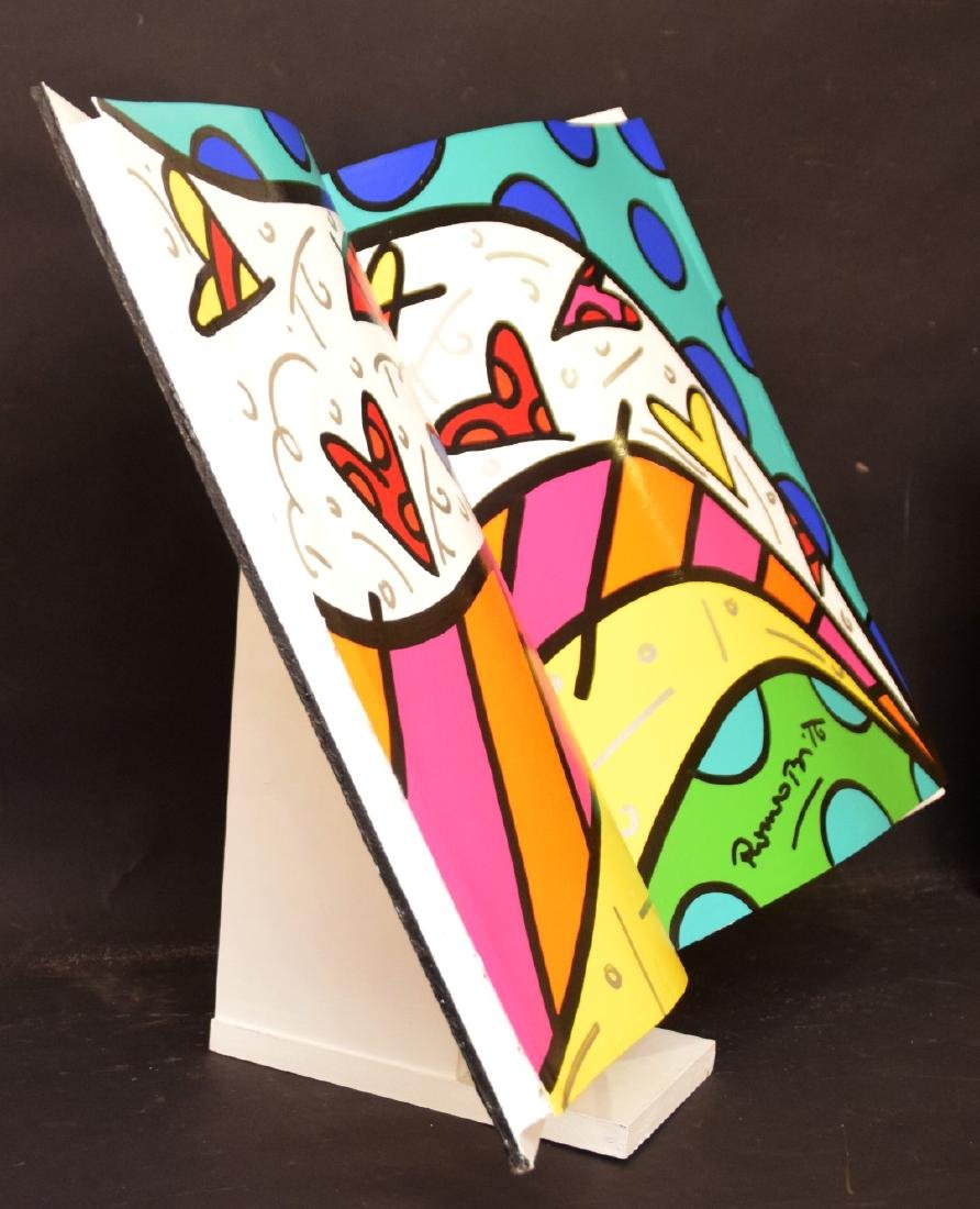 Romero Britto (Brazilian, b. 1963) acrylic painted OPEN - 3