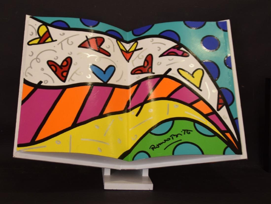 Romero Britto (Brazilian, b. 1963) acrylic painted OPEN - 5