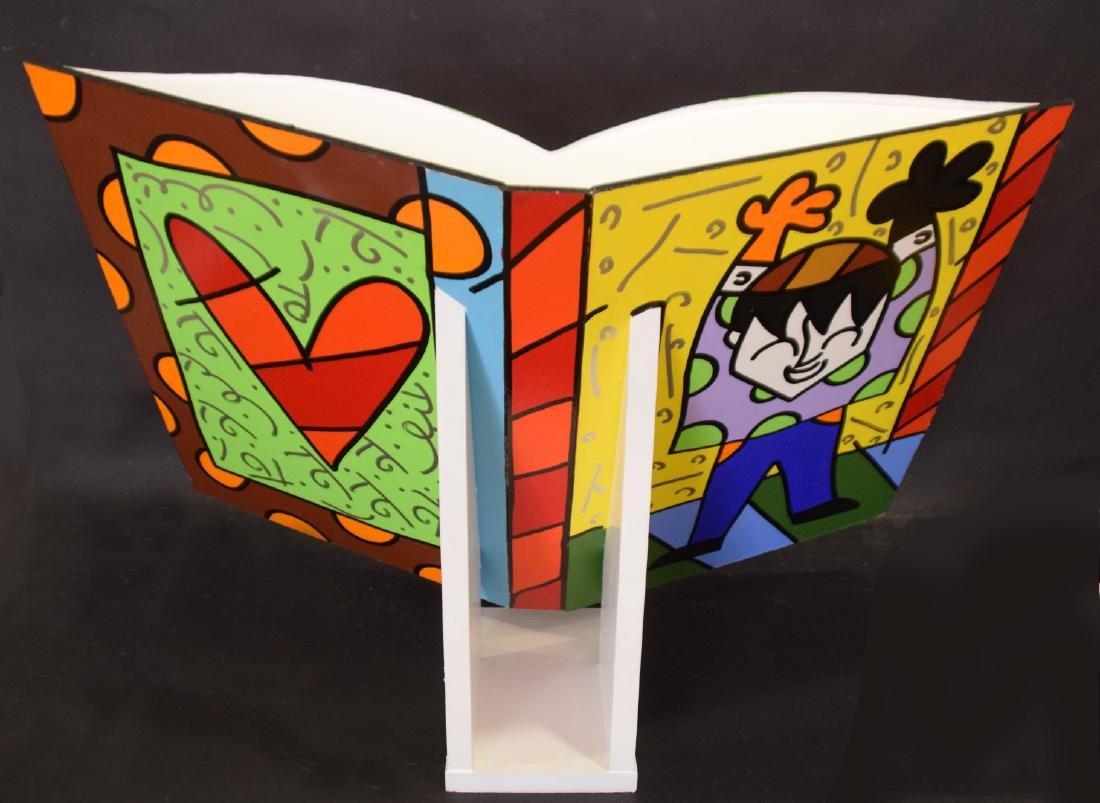 Romero Britto (Brazilian, b. 1963) acrylic painted OPEN - 6